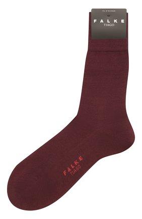 Мужские хлопковые носки tiago FALKE бордового цвета, арт. 14662 | Фото 1 (Материал внешний: Хлопок; Кросс-КТ: бельё)