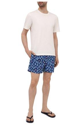 Мужские шлепанцы HUGO темно-синего цвета, арт. 50451987 | Фото 2