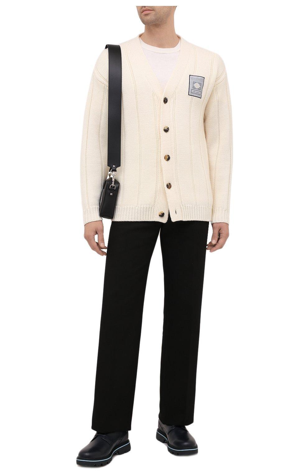 Мужские кожаные дерби BOSS темно-синего цвета, арт. 50452594 | Фото 2