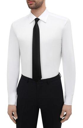 Мужская хлопковая сорочка BOSS белого цвета, арт. 50445840   Фото 4