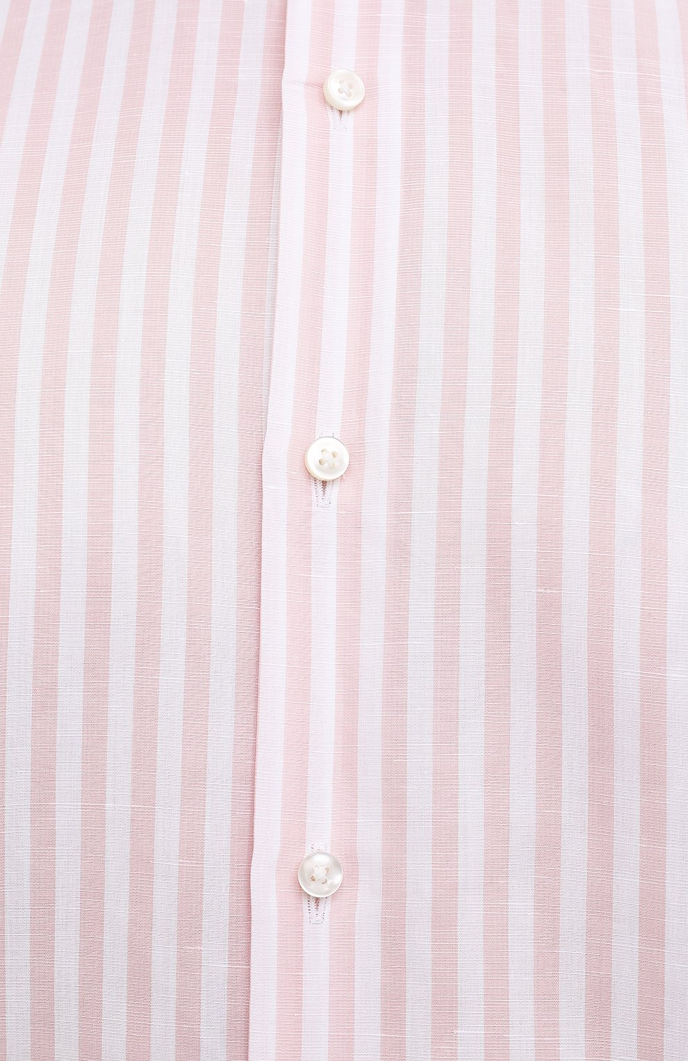 Мужская рубашка из хлопка и льна BOSS розового цвета, арт. 50451268 | Фото 5