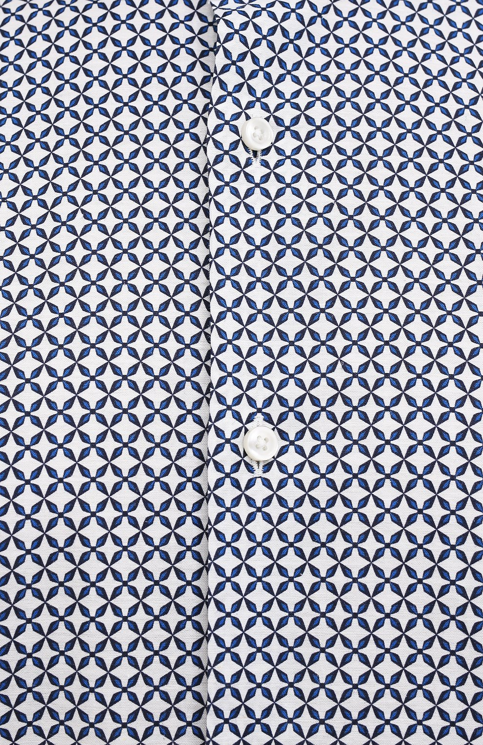 Мужская рубашка из хлопка и льна BOSS синего цвета, арт. 50454065 | Фото 5