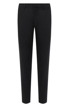 Мужские хлопковые брюки BOSS темно-зеленого цвета, арт. 50452804   Фото 1 (Материал внешний: Хлопок; Длина (брюки, джинсы): Стандартные; Случай: Повседневный; Стили: Кэжуэл)
