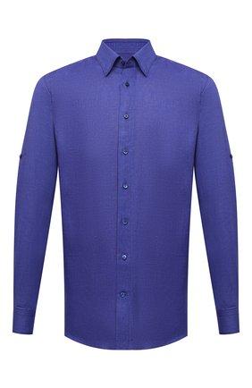 Мужская льняная рубашка ZILLI синего цвета, арт. MFV-13088-190044/ZS180 | Фото 1