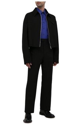 Мужская льняная рубашка ZILLI синего цвета, арт. MFV-13088-190044/ZS180 | Фото 2