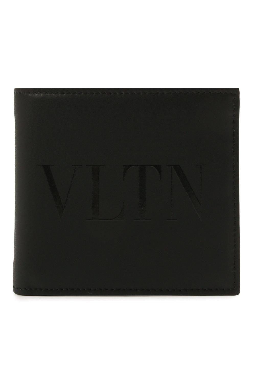 Мужской кожаное портмоне VALENTINO черного цвета, арт. WY2P0654/VNA | Фото 1
