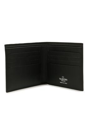 Мужской кожаное портмоне VALENTINO черного цвета, арт. WY2P0654/VNA | Фото 3