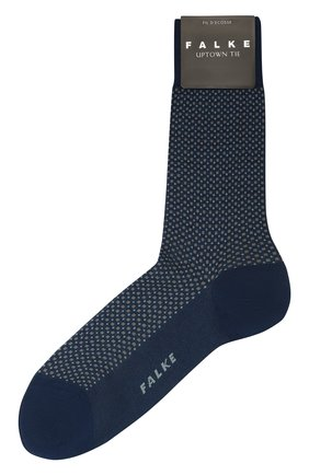 Мужские хлопковые носки FALKE синего цвета, арт. 12437 | Фото 1
