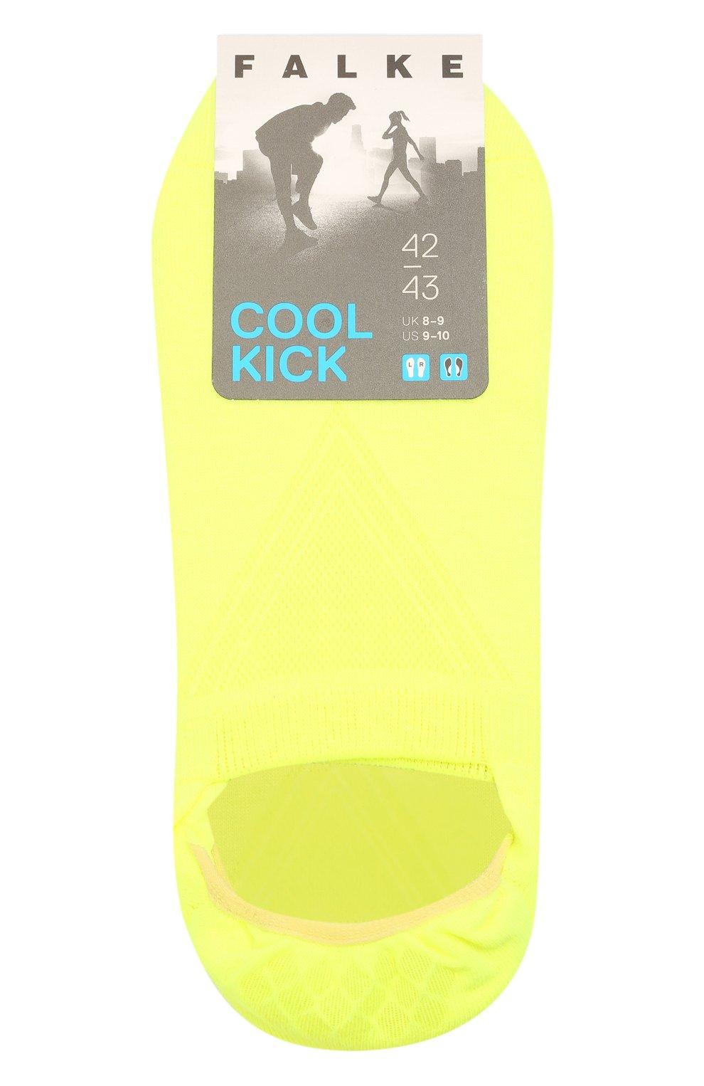 Мужские подследники cool kick FALKE желтого цвета, арт. 16601 | Фото 1 (Кросс-КТ: бельё; Материал внешний: Синтетический материал)