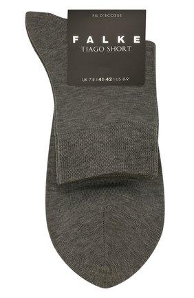 Мужские хлопковые носки FALKE серого цвета, арт. 13062 | Фото 1 (Материал внешний: Хлопок; Кросс-КТ: бельё)