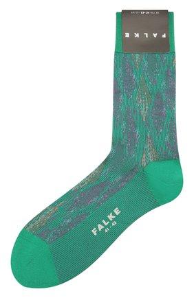 Мужские хлопковые носки FALKE зеленого цвета, арт. 12441 | Фото 1 (Кросс-КТ: бельё; Материал внешний: Хлопок)
