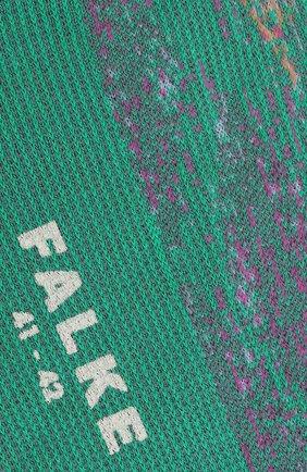 Мужские хлопковые носки FALKE зеленого цвета, арт. 12441 | Фото 2 (Кросс-КТ: бельё; Материал внешний: Хлопок)