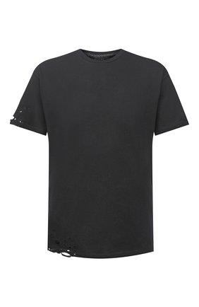 Мужская хлопковая футболка RELIGION темно-серого цвета, арт. 11PBTN96   Фото 1