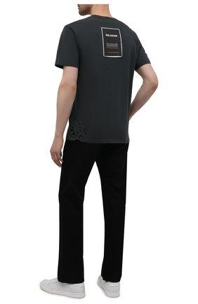 Мужская хлопковая футболка RELIGION темно-серого цвета, арт. 11PBTN96   Фото 2