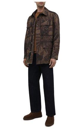 Мужские замшевые ботинки SANTONI коричневого цвета, арт. MGDG17823SSTASVUS50 | Фото 2
