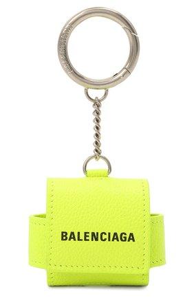 Кожаный чехол для airpods pro BALENCIAGA желтого цвета, арт. 655679/2UQ13   Фото 1