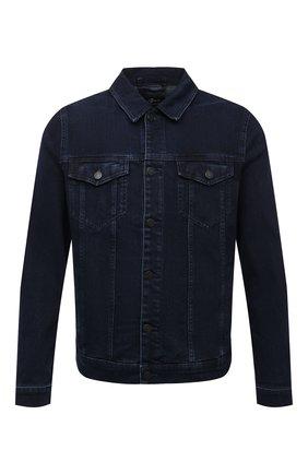 Мужская джинсовая куртка 7 FOR ALL MANKIND синего цвета, арт. JSK5R460LL | Фото 1