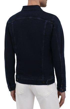 Мужская джинсовая куртка 7 FOR ALL MANKIND синего цвета, арт. JSK5R460LL | Фото 4 (Кросс-КТ: Куртка; Рукава: Длинные; Материал внешний: Хлопок, Деним; Длина (верхняя одежда): Короткие; Стили: Кэжуэл)