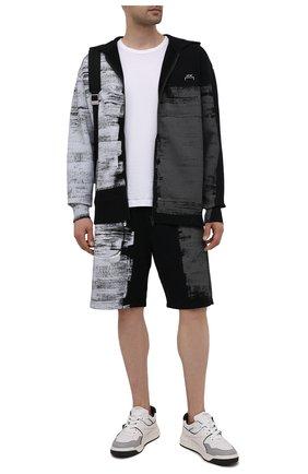 Мужской хлопковая толстовка A-COLD-WALL* черно-белого цвета, арт. ACWMW035 | Фото 2