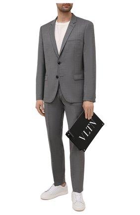 Мужская кожаный клатч VALENTINO черного цвета, арт. WY2B0692/WJW   Фото 2
