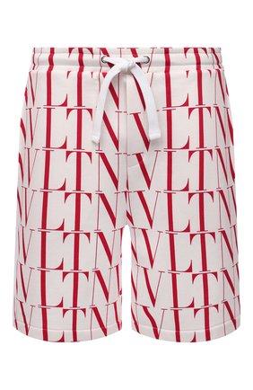 Мужские хлопковые шорты VALENTINO белого цвета, арт. WV3MD02Q7J2 | Фото 1