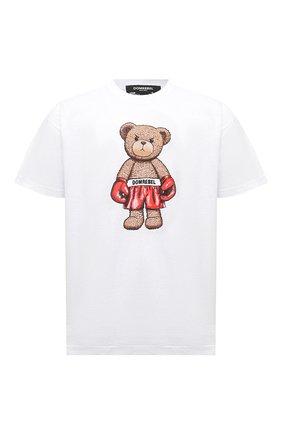 Мужская хлопковая футболка DOMREBEL белого цвета, арт. STANDING/T-SHIRT | Фото 1 (Рукава: Короткие; Материал внешний: Хлопок; Длина (для топов): Стандартные; Принт: С принтом; Стили: Гранж)