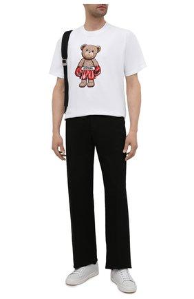 Мужская хлопковая футболка DOMREBEL белого цвета, арт. STANDING/T-SHIRT | Фото 2 (Рукава: Короткие; Материал внешний: Хлопок; Длина (для топов): Стандартные; Принт: С принтом; Стили: Гранж)