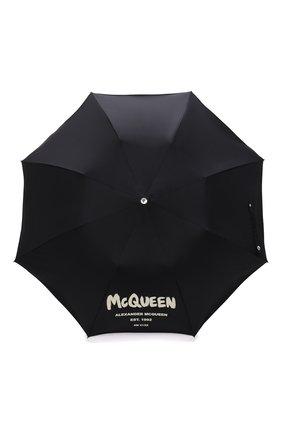 Мужской складной зонт ALEXANDER MCQUEEN черного цвета, арт. 663426/4A71Q | Фото 1