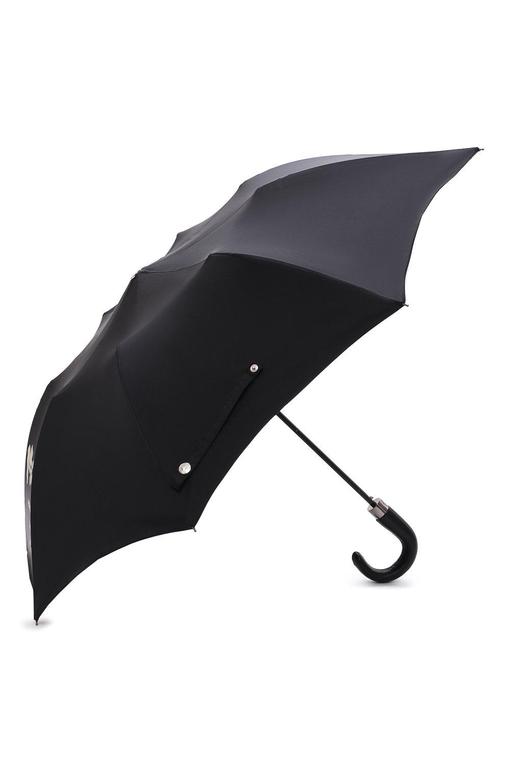 Мужской складной зонт ALEXANDER MCQUEEN черного цвета, арт. 663426/4A71Q   Фото 2 (Материал: Текстиль, Синтетический материал, Металл)