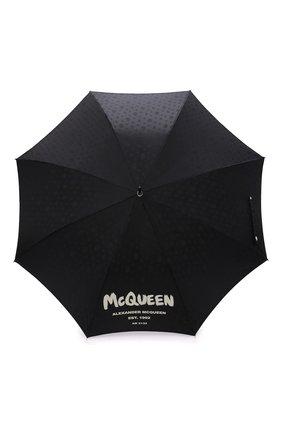 Мужской зонт-трость ALEXANDER MCQUEEN черного цвета, арт. 661949/4D48Q | Фото 1