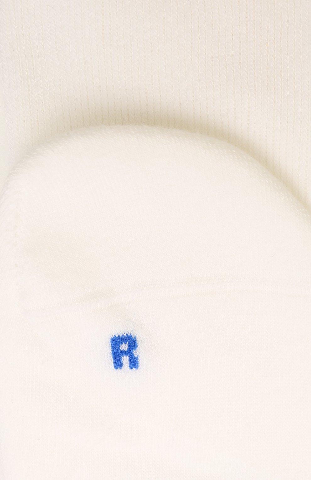 Мужские хлопковые носки FALKE белого цвета, арт. 16605   Фото 2 (Кросс-КТ: бельё; Материал внешний: Хлопок)