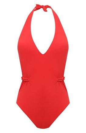 Женский слитный купальник GOTTEX красного цвета, арт. 21BE013 | Фото 1 (Материал внешний: Синтетический материал; Женское Кросс-КТ: Слитные купальники; Длина Ж (юбки, платья, шорты): Мини)