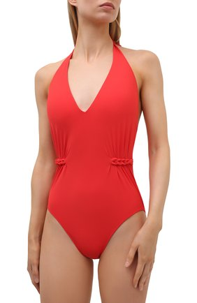 Женский слитный купальник GOTTEX красного цвета, арт. 21BE013 | Фото 2 (Материал внешний: Синтетический материал; Женское Кросс-КТ: Слитные купальники; Длина Ж (юбки, платья, шорты): Мини)