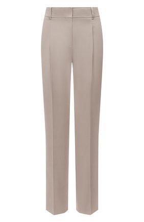 Женские хлопковые брюки BOSS бежевого цвета, арт. 50455549 | Фото 1