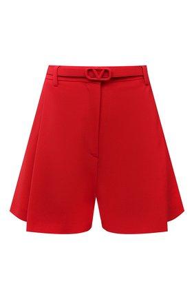 Женские шорты VALENTINO красного цвета, арт. WB3RF1R56DP | Фото 1