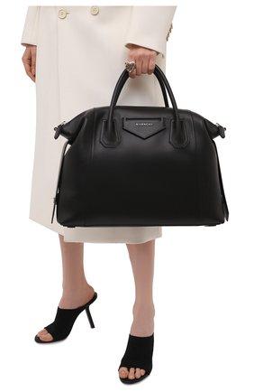 Женская сумка antigona soft medium GIVENCHY черного цвета, арт. BB50F2B11E   Фото 2 (Материал: Натуральная кожа; Сумки-технические: Сумки top-handle, Сумки через плечо; Размер: medium)