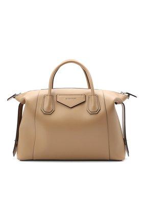 Женская сумка antigona soft medium GIVENCHY бежевого цвета, арт. BB50F2B11E | Фото 1