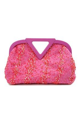 Женская сумка medium point BOTTEGA VENETA розового цвета, арт. 658716/V0T01 | Фото 1