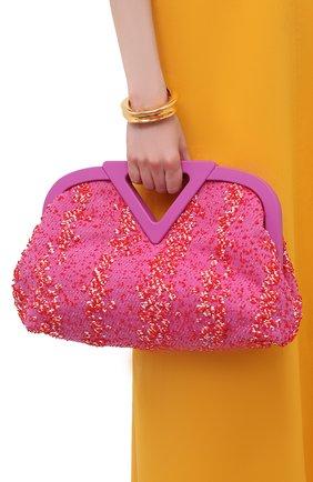 Женская сумка medium point BOTTEGA VENETA розового цвета, арт. 658716/V0T01 | Фото 2