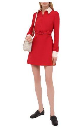 Женское платье из шерсти и шелка VALENTINO красного цвета, арт. WB3VAW611CF | Фото 2
