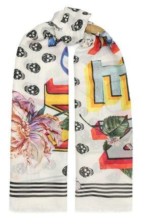 Женский платок ALEXANDER MCQUEEN разноцветного цвета, арт. 666152/3418Q | Фото 1