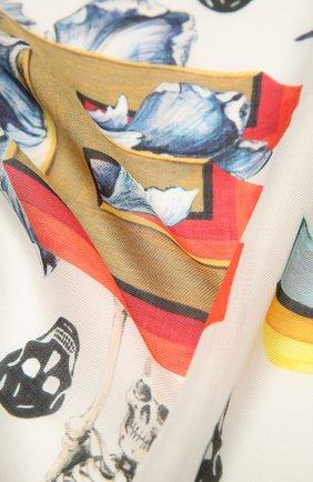 Женский платок ALEXANDER MCQUEEN разноцветного цвета, арт. 666152/3418Q | Фото 2