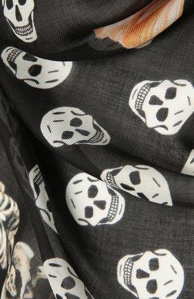 Женский платок ALEXANDER MCQUEEN черно-белого цвета, арт. 666152/3418Q | Фото 2