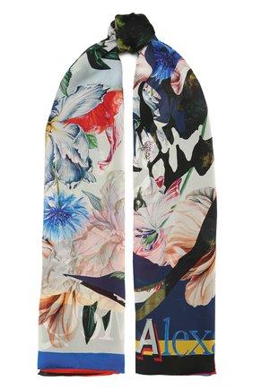 Женский шелковый платок ALEXANDER MCQUEEN разноцветного цвета, арт. 665645/3011Q | Фото 1