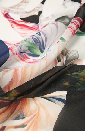 Женский шелковый платок ALEXANDER MCQUEEN разноцветного цвета, арт. 665645/3011Q | Фото 2