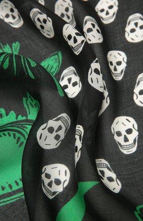 Женский платок ALEXANDER MCQUEEN черного цвета, арт. 665607/3418Q | Фото 2