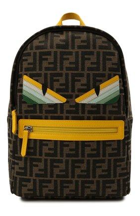 Детская рюкзак FENDI коричневого цвета, арт. 8BZ040/AEWQ | Фото 1