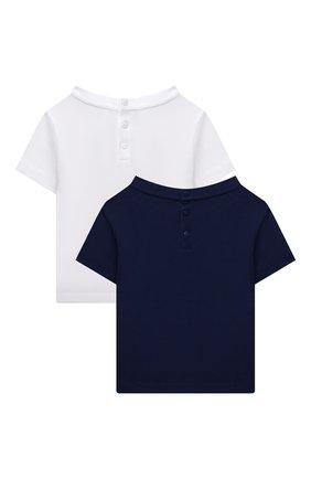 Детский комплект из двух футболок EMPORIO ARMANI разноцветного цвета, арт. 6KHDJ1/4J54Z | Фото 2 (Рукава: Короткие; Ростовка одежда: 9 мес | 74 см, 12 мес | 80 см, 24 мес | 92 см, 36 мес | 98 см, 3 мес | 62 см, 6 мес | 68 см)