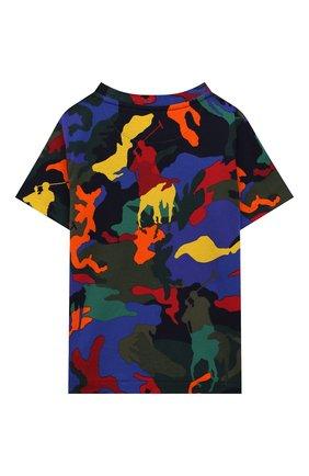 Детская хлопковая футболка POLO RALPH LAUREN разноцветного цвета, арт. 321844639   Фото 2 (Материал внешний: Хлопок; Рукава: Короткие; Ростовка одежда: 18 мес   86 см, 3 года   98 см, 4 года   104 см)
