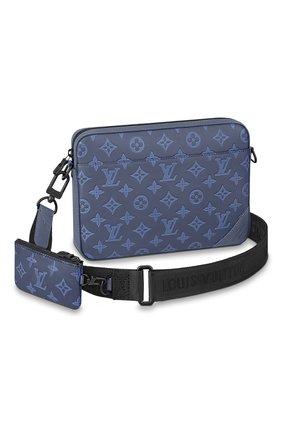 Мужская кожаная сумка duo LOUIS VUITTON темно-синего цвета, арт. M45730 | Фото 1